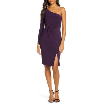 Vince Camuto One-Sleeve Ruched Cocktail Dress, 8 (similar to 1) - Purple