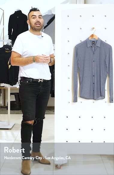 Robbie Slim Fit Button-Up Shirt, sales video thumbnail