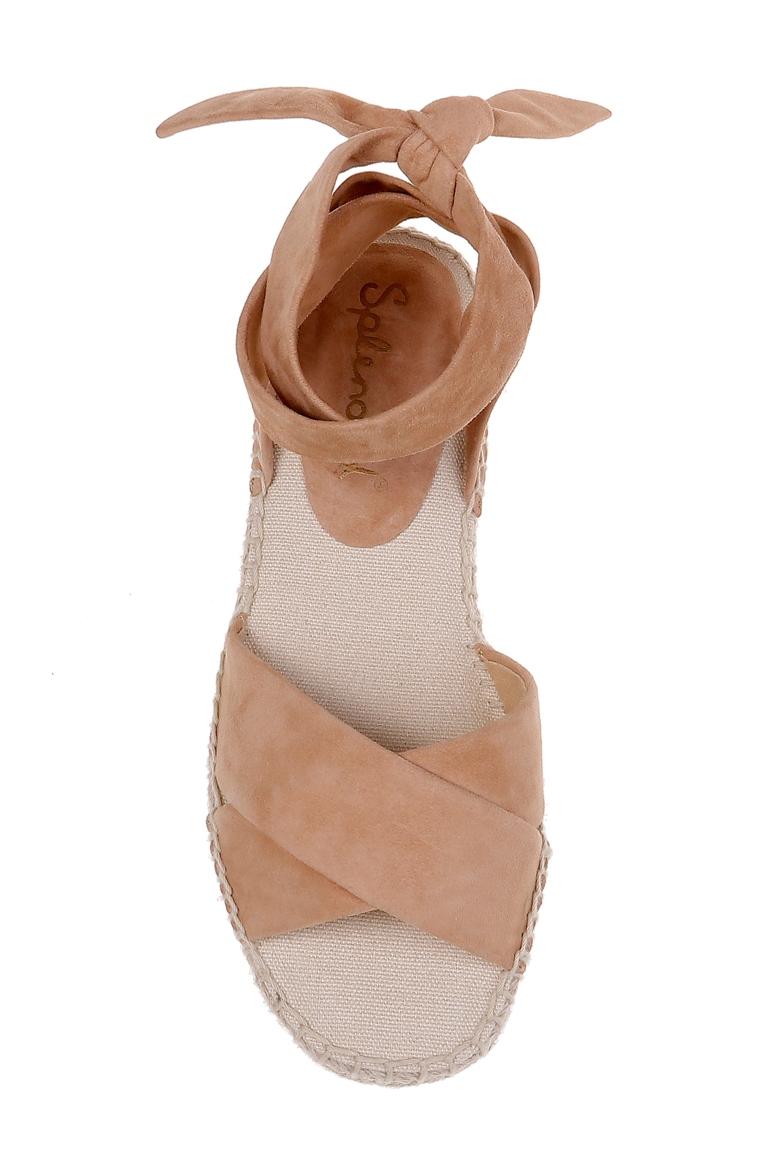,                             Tereza Ankle Wrap Sandal,                             Alternate thumbnail 5, color,                             TAN SUEDE