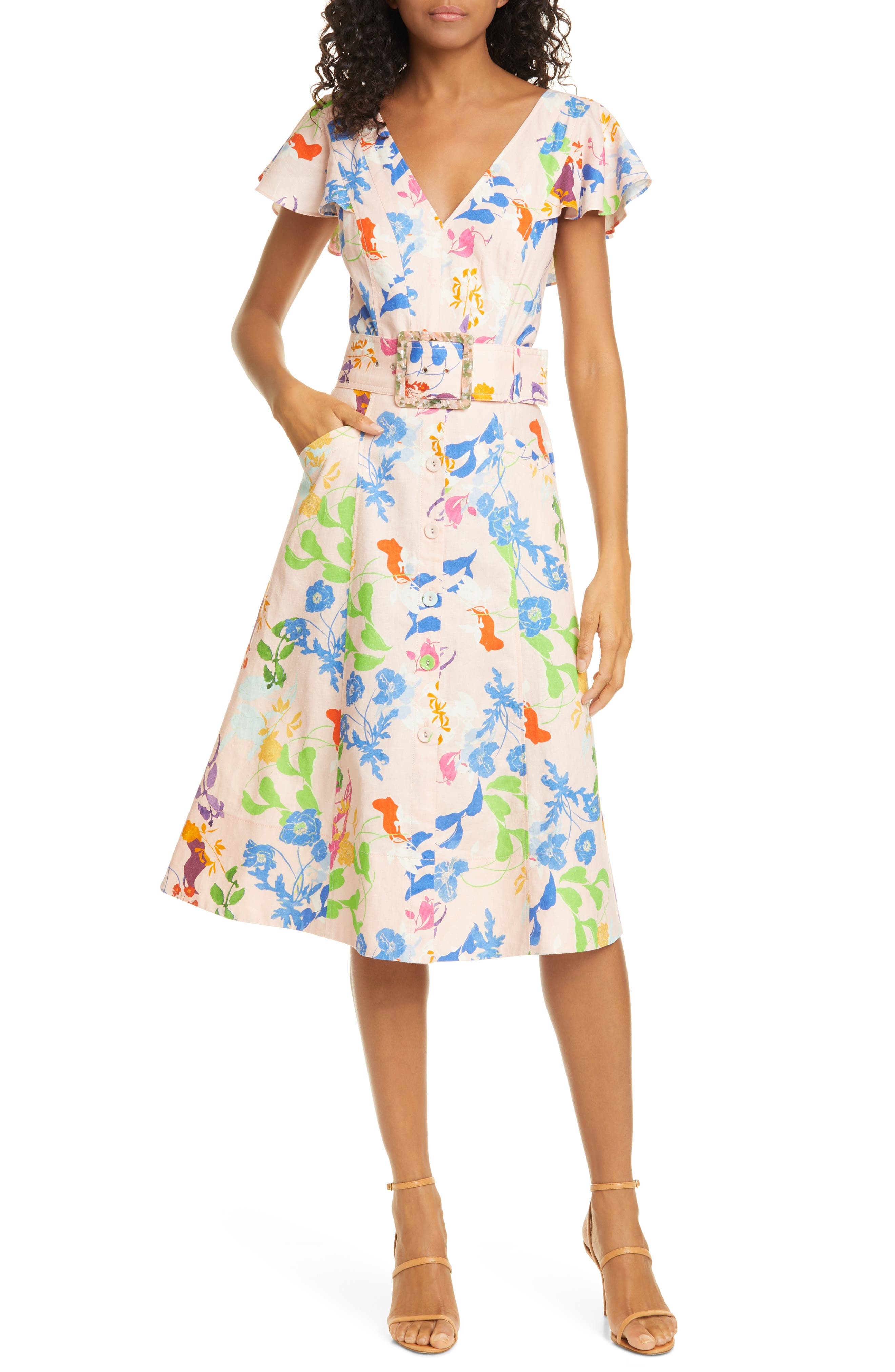 Image of Tanya Taylor Jan Fit & Flare Dress