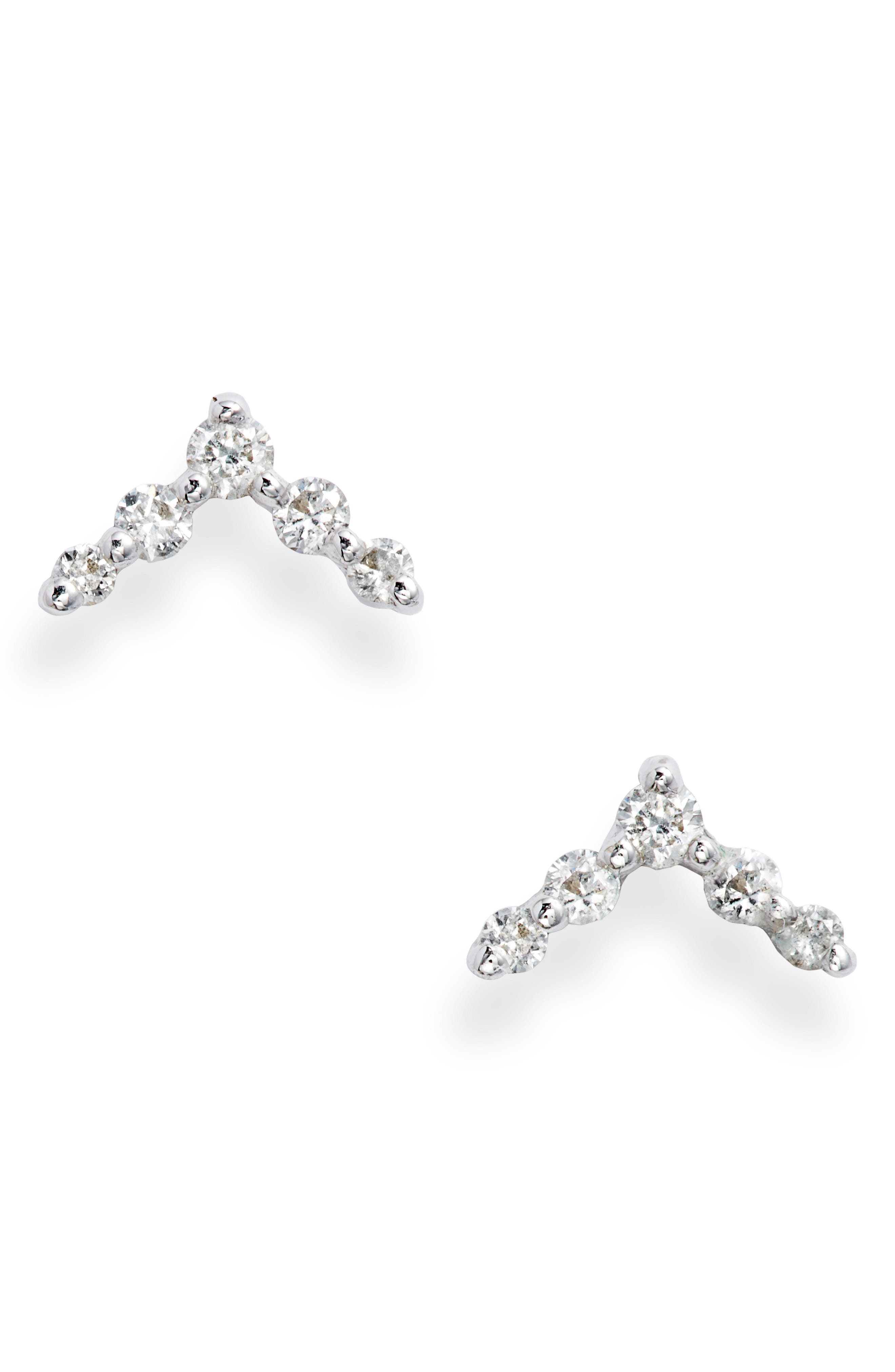 Chevron Diamond Stud Earrings (Nordstrom Exclusive)