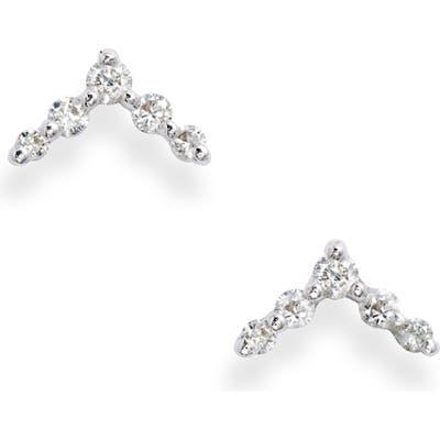 Bony Levy Chevron Diamond Stud Earrings (Nordstrom Exclusive)