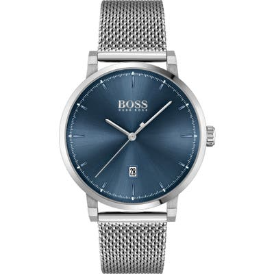 Boss Confidence Mesh Strap Watch, 42Mm