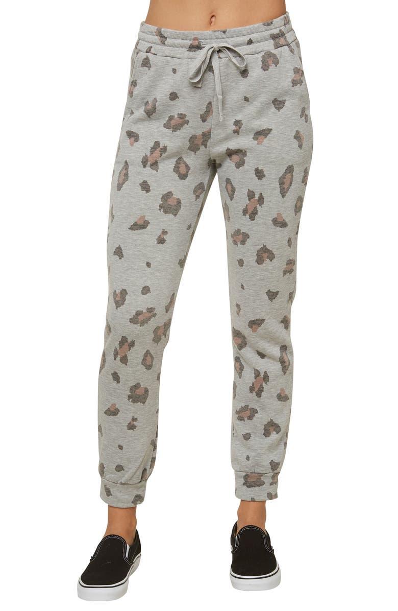 O'NEILL Arrela Camo Fleece Sweatpants, Main, color, MULTI COLORED