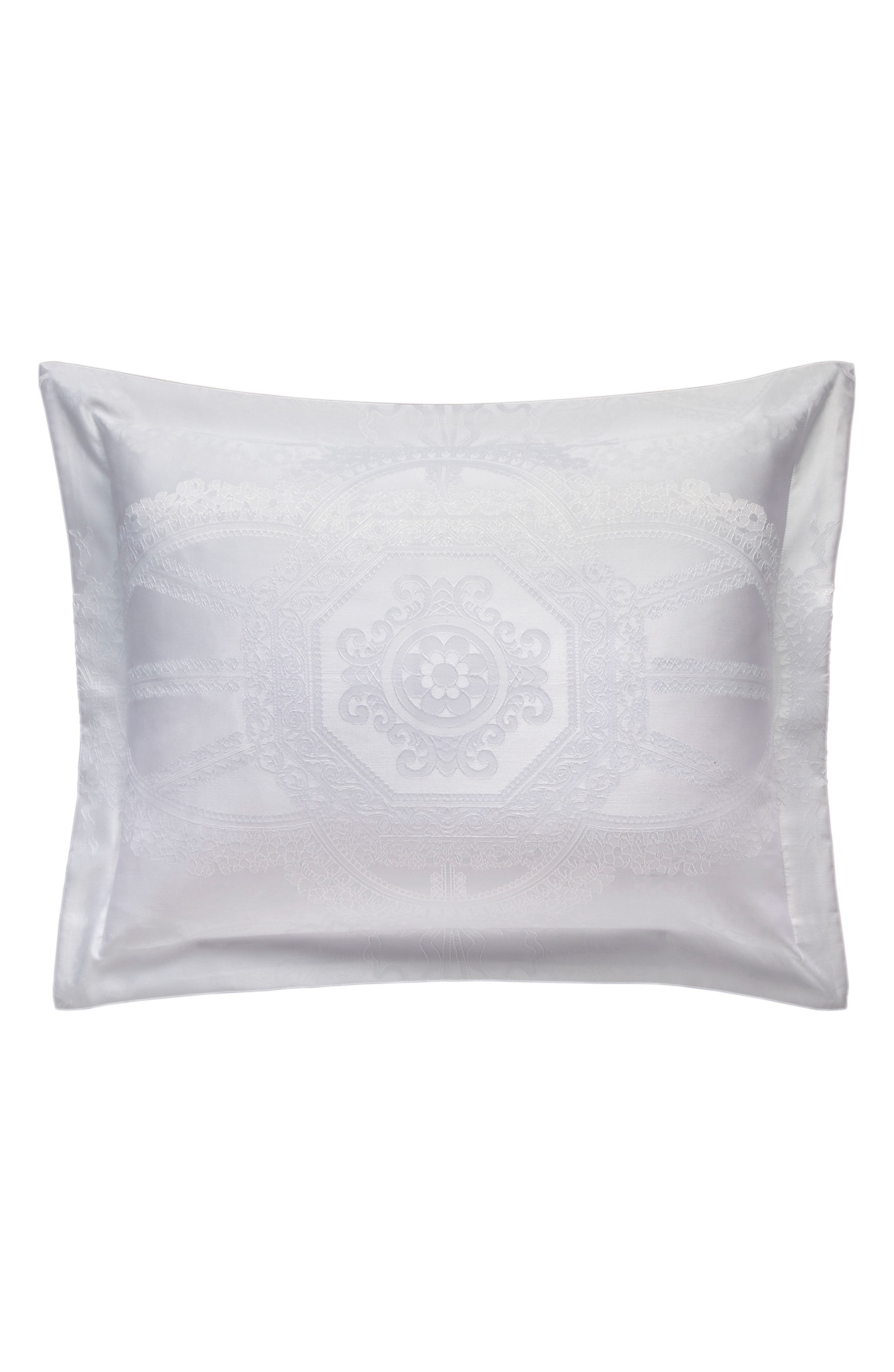 ,                             Ruched Accent Pillow,                             Alternate thumbnail 4, color,                             WHITE