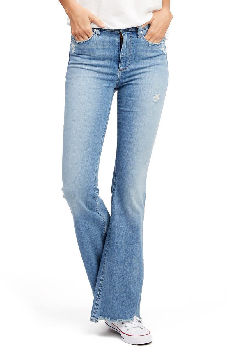 SOCIALITE Remi High Waist Flare Jeans, Main, color, 400