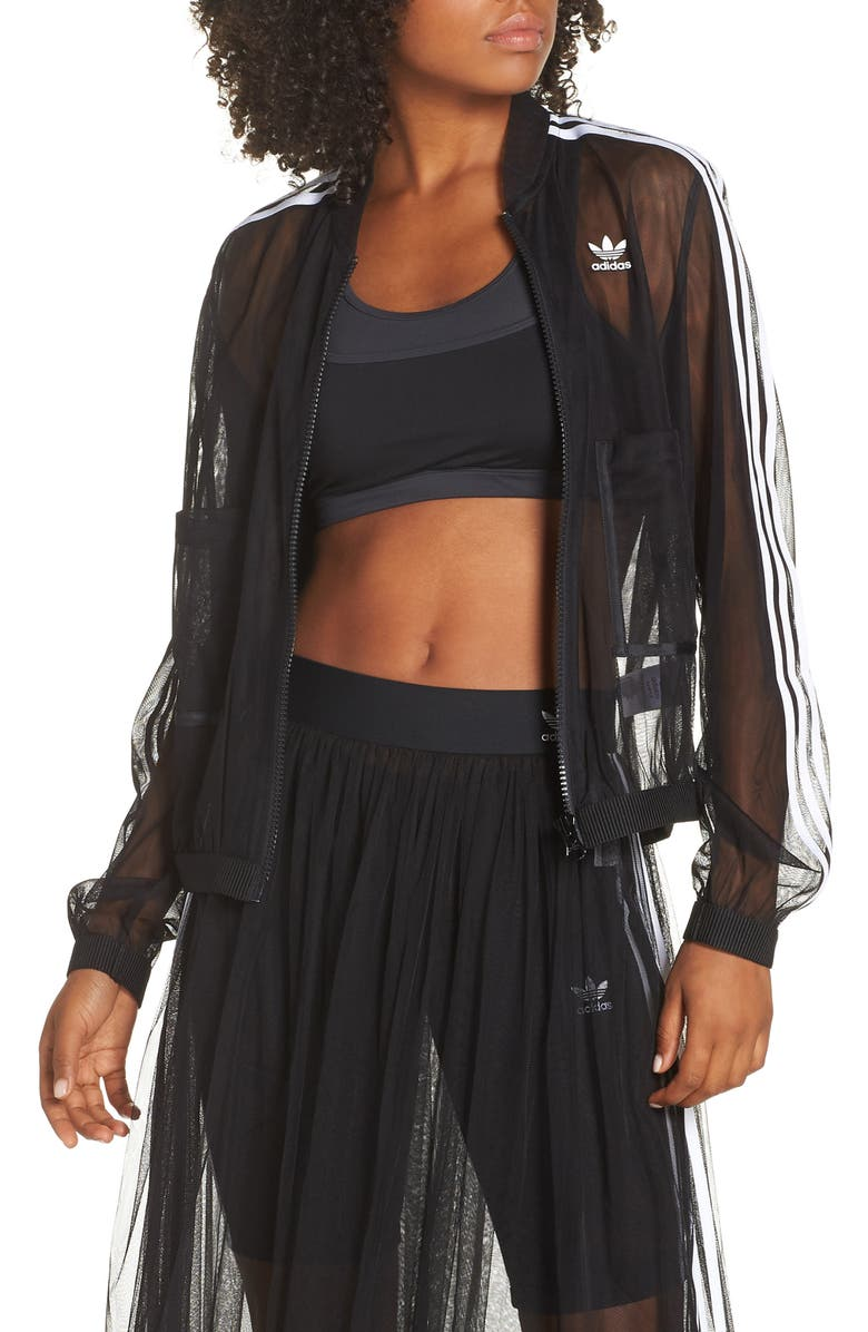 ADIDAS Mesh Track Jacket, Main, color, 001