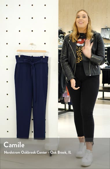 Paperbag Waist Twill Pants, sales video thumbnail