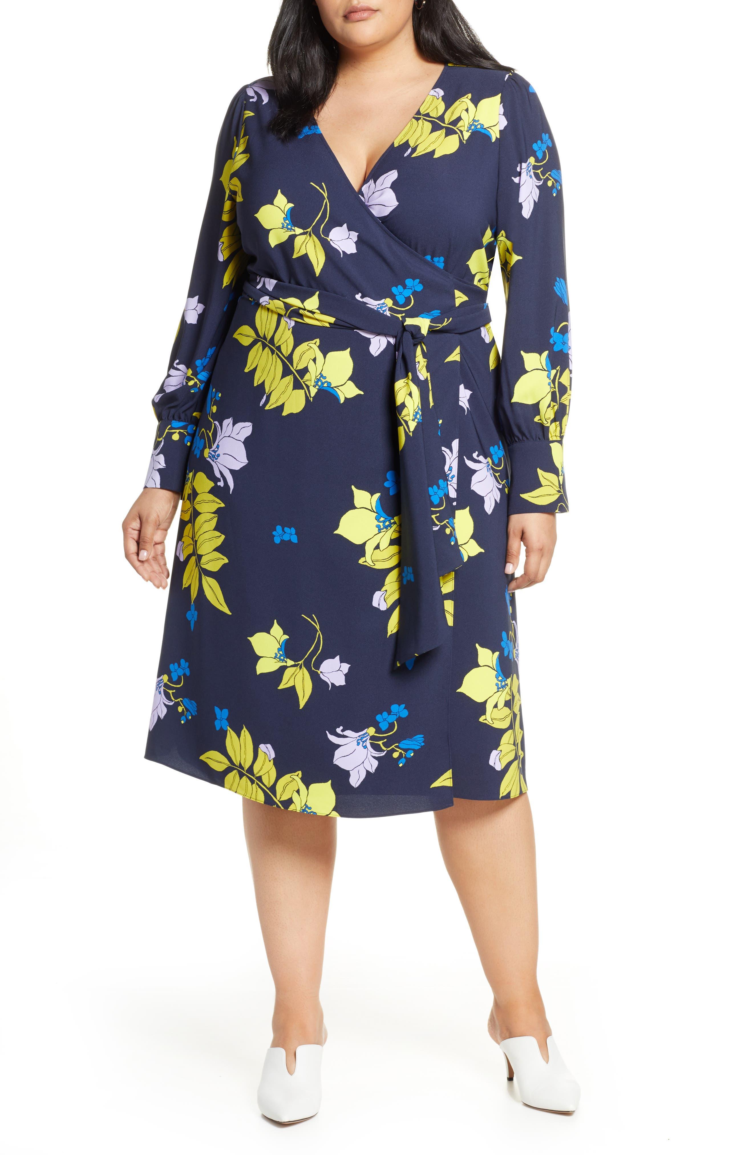 plus size women's halogen wrap dress