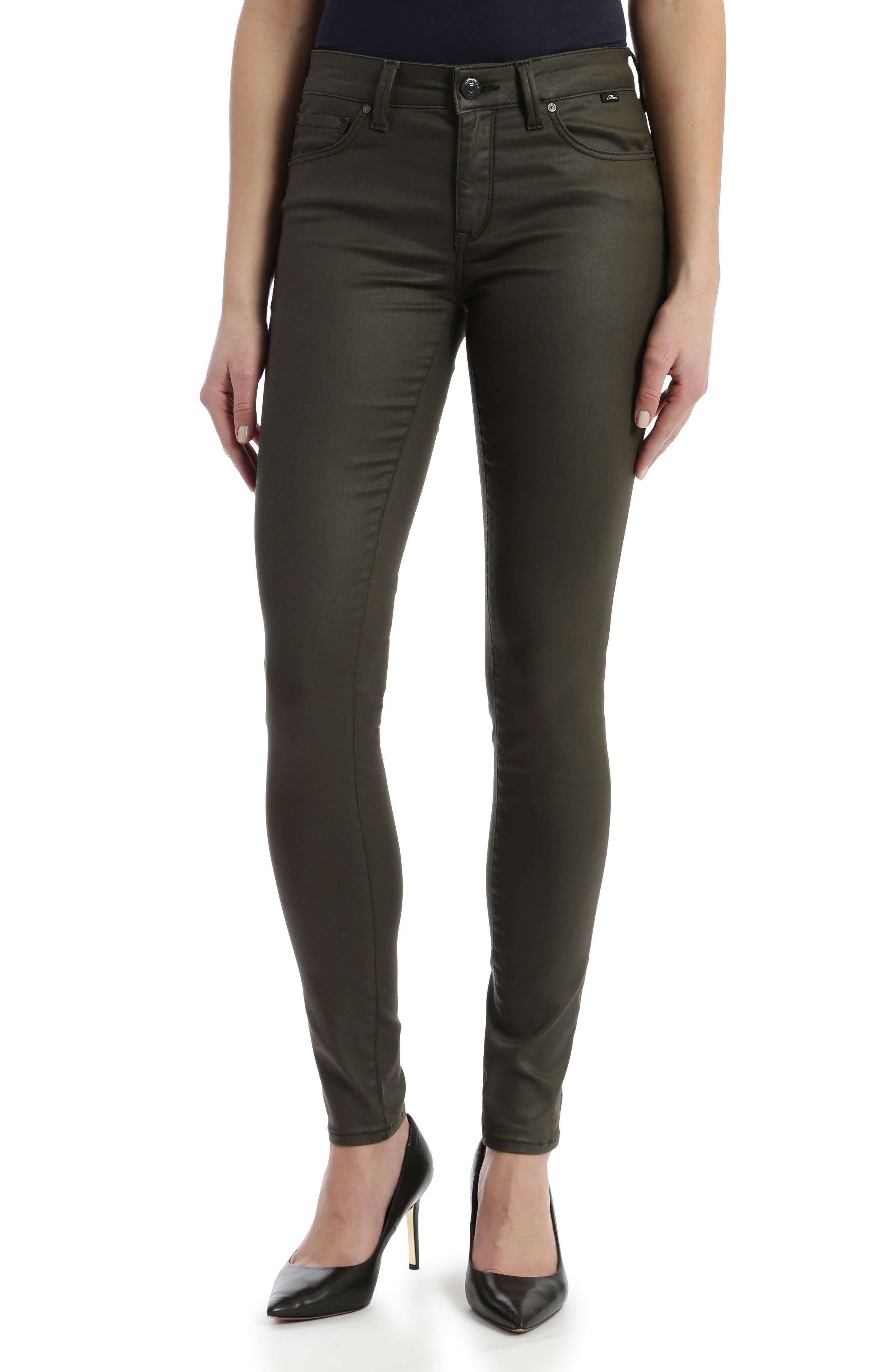 Tess High Waist Coated Super Skinny Jeans