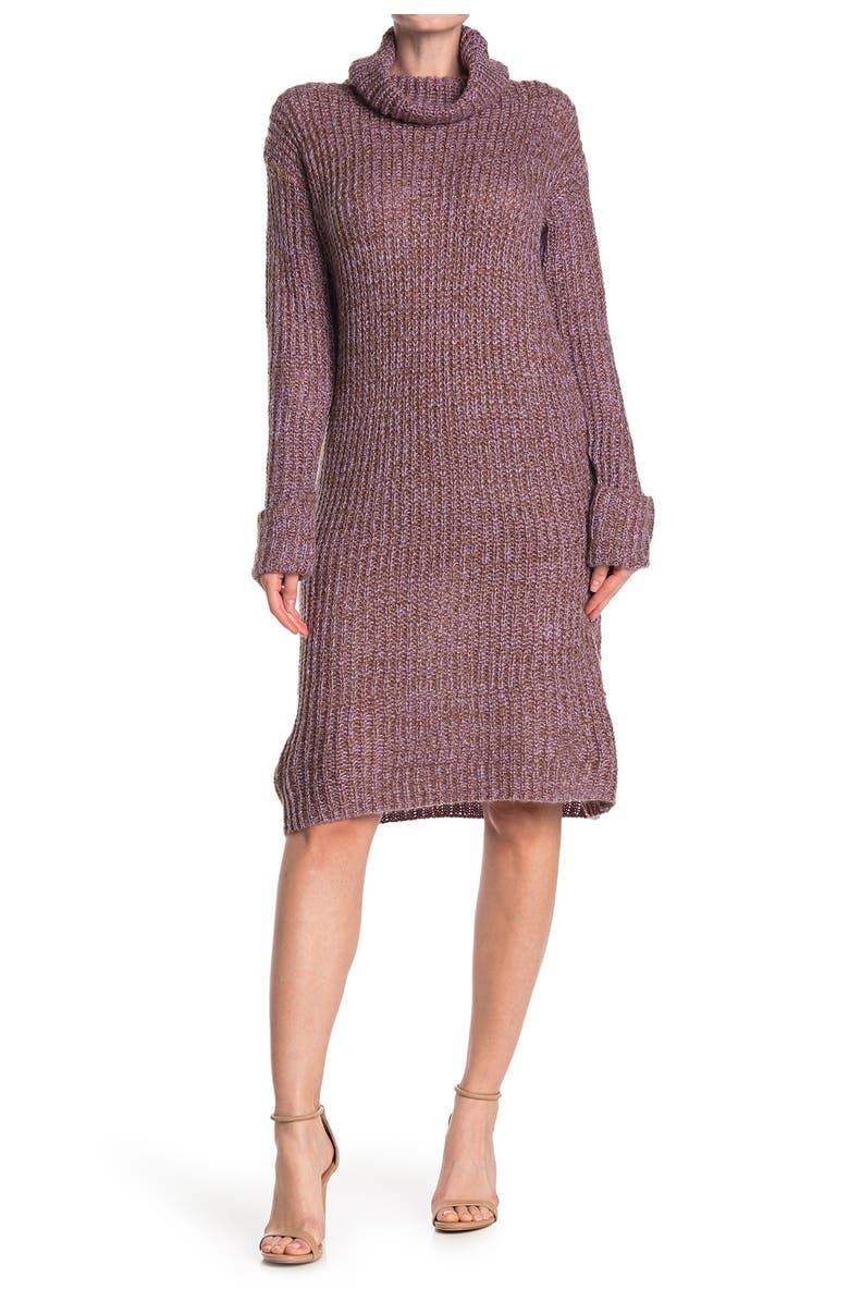 STITCHDROP Speckled Knit Sweater Dress, Main, color, MONTANA