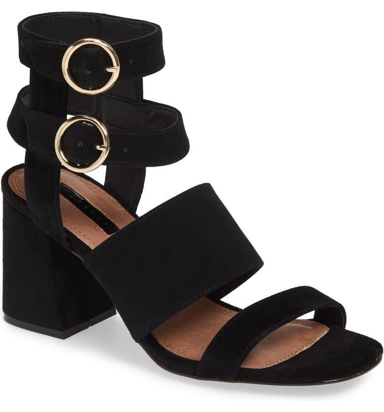 TOPSHOP Nevada Sandal, Main, color, BLACK