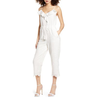 All In Favor Eyelet Jumpsuit, Ivory