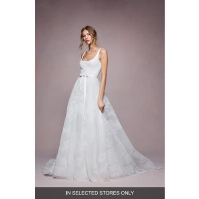 Marchesa Notte Bea Embroidered Ballgown Wedding Dress, Size - Ivory