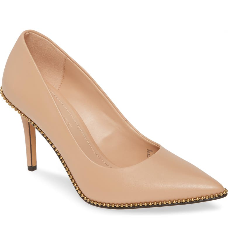 COACH Waverly Pointy Toe Pump, Main, color, BEECHWOOD LEATHER