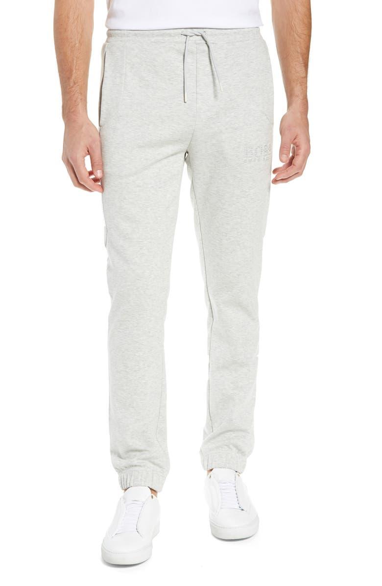 BOSS Hadiko Slim Fit Sweatpants, Main, color, LIGHT/ PASTEL GREY