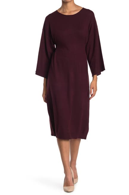 Image of Max Studio Long Sleeve Sweater Dress
