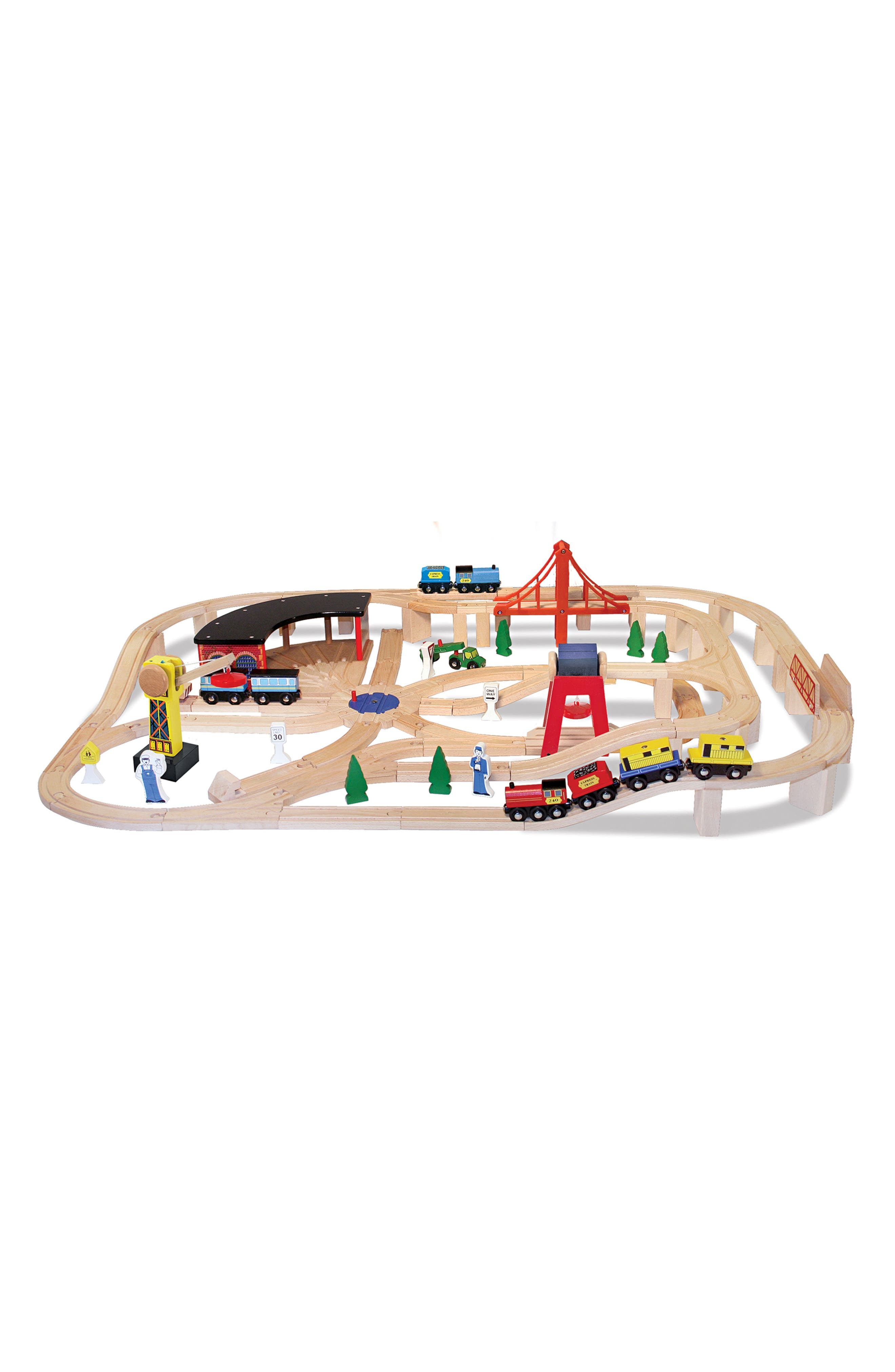 Toddler Boys Melissa  Doug Wooden Railway  Wooden Train Cars Set