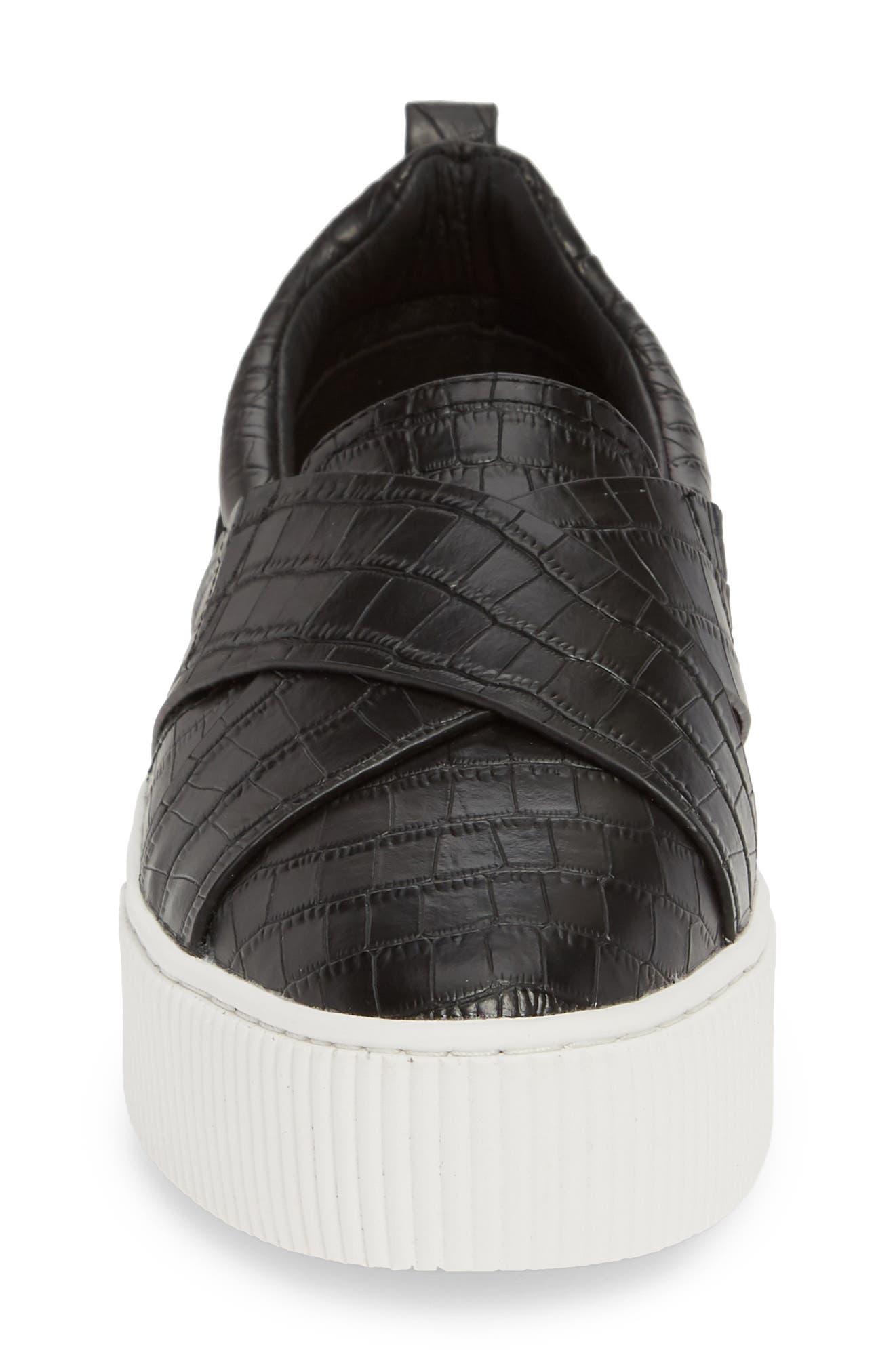 ,                             Blakely Slip-On Platform Sneaker,                             Alternate thumbnail 4, color,                             BLACK CROCO PRINTED LEATHER