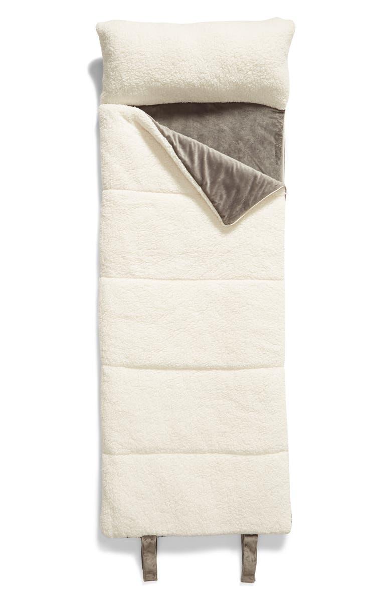 BP. High Pile Fleece Slumber Bag, Main, color, GREY DECEMBER