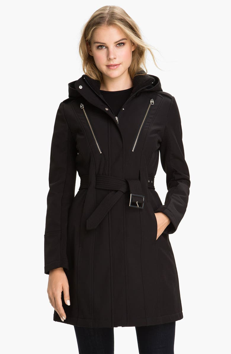 MISS SIXTY Softshell Trench Coat, Main, color, 001