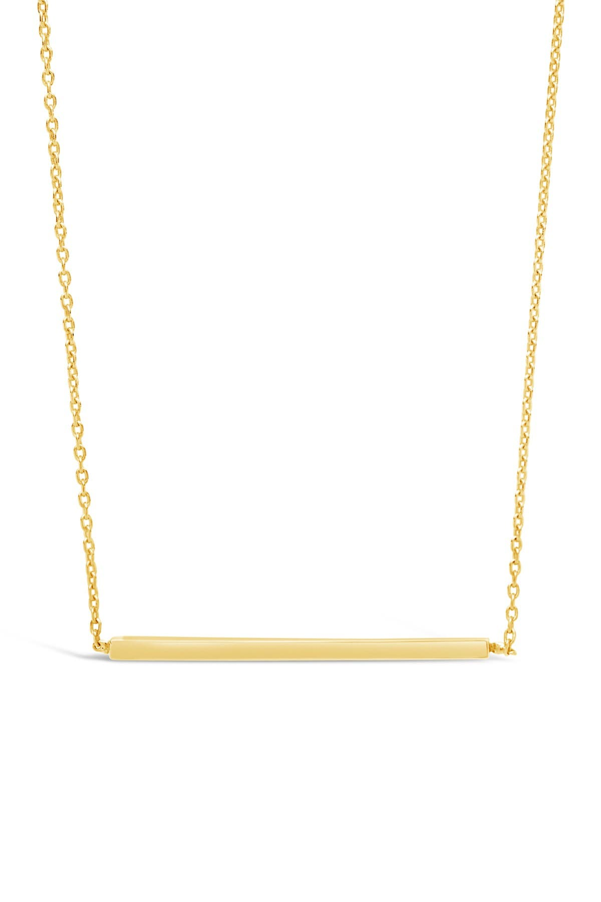 Image of Sterling Forever 14K Gold Vermeil Plated Sterling Silver Thin Bar Necklace