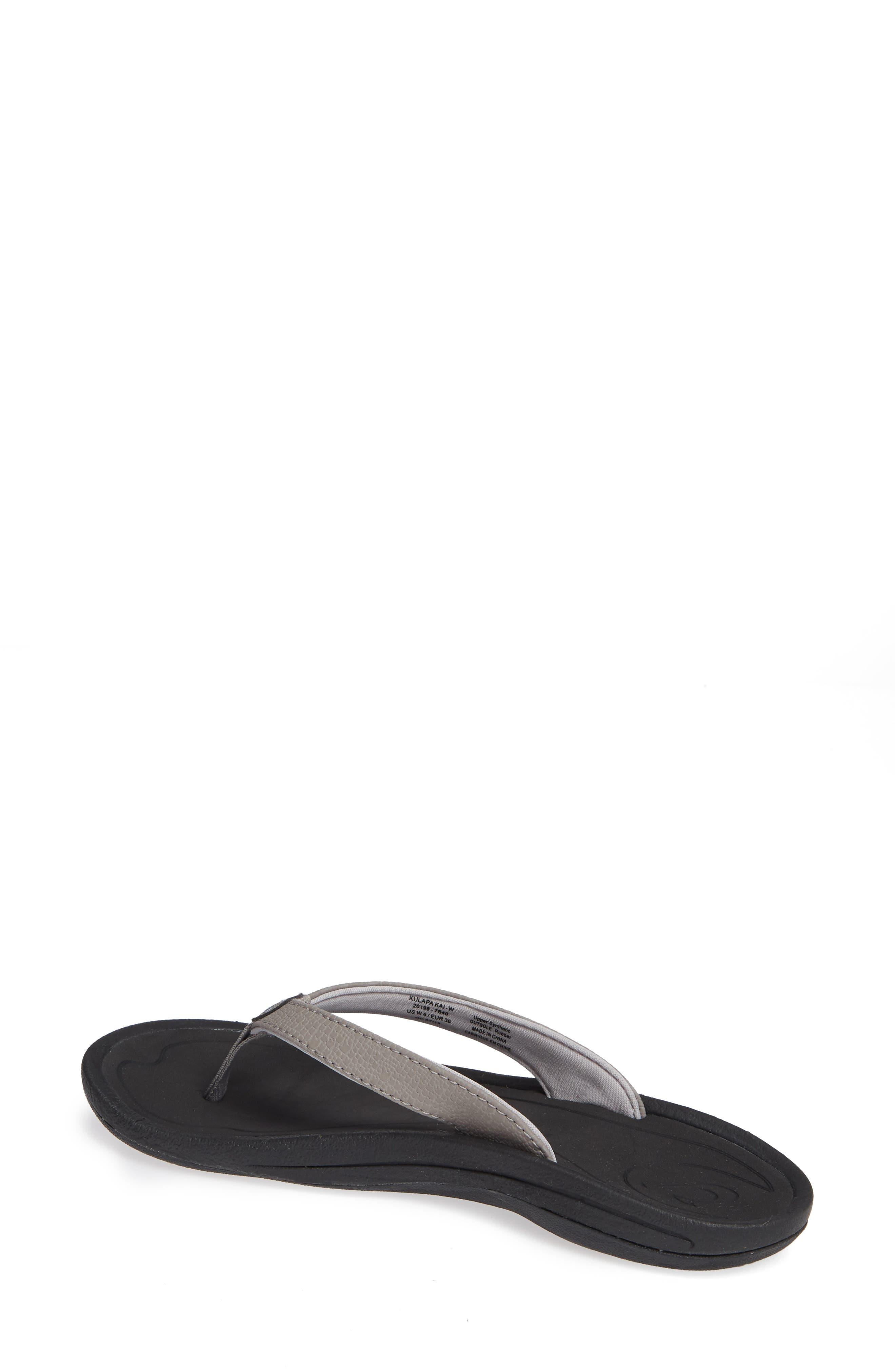 ,                             'Kulapa Kai' Thong Sandal,                             Alternate thumbnail 2, color,                             FOG/ BLACK FABRIC