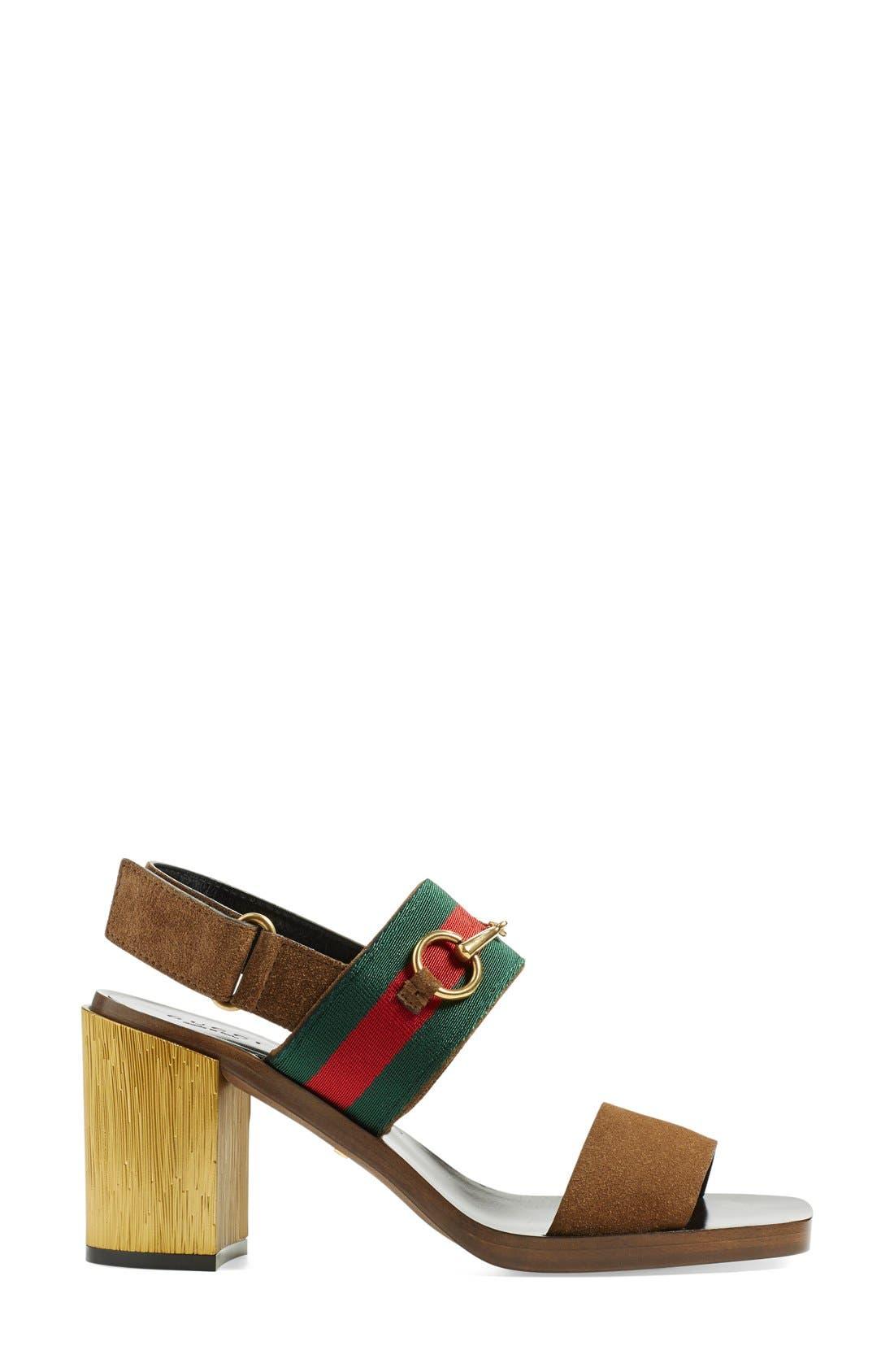 ,                             'Querelle' Horsebit Slingback Sandal,                             Alternate thumbnail 3, color,                             250
