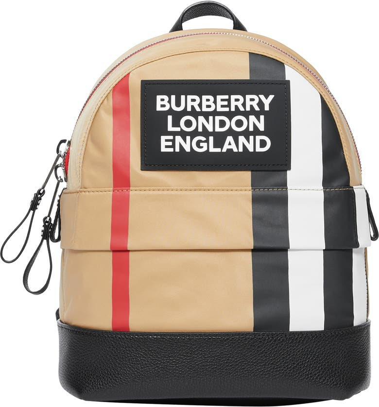 BURBERRY Small Nico Logo Backpack, Main, color, ARCHIVE BEIGE