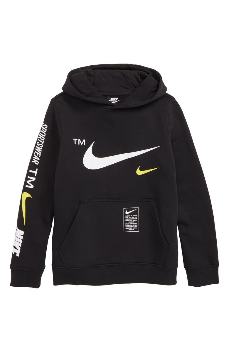 nike double swoosh hoodie