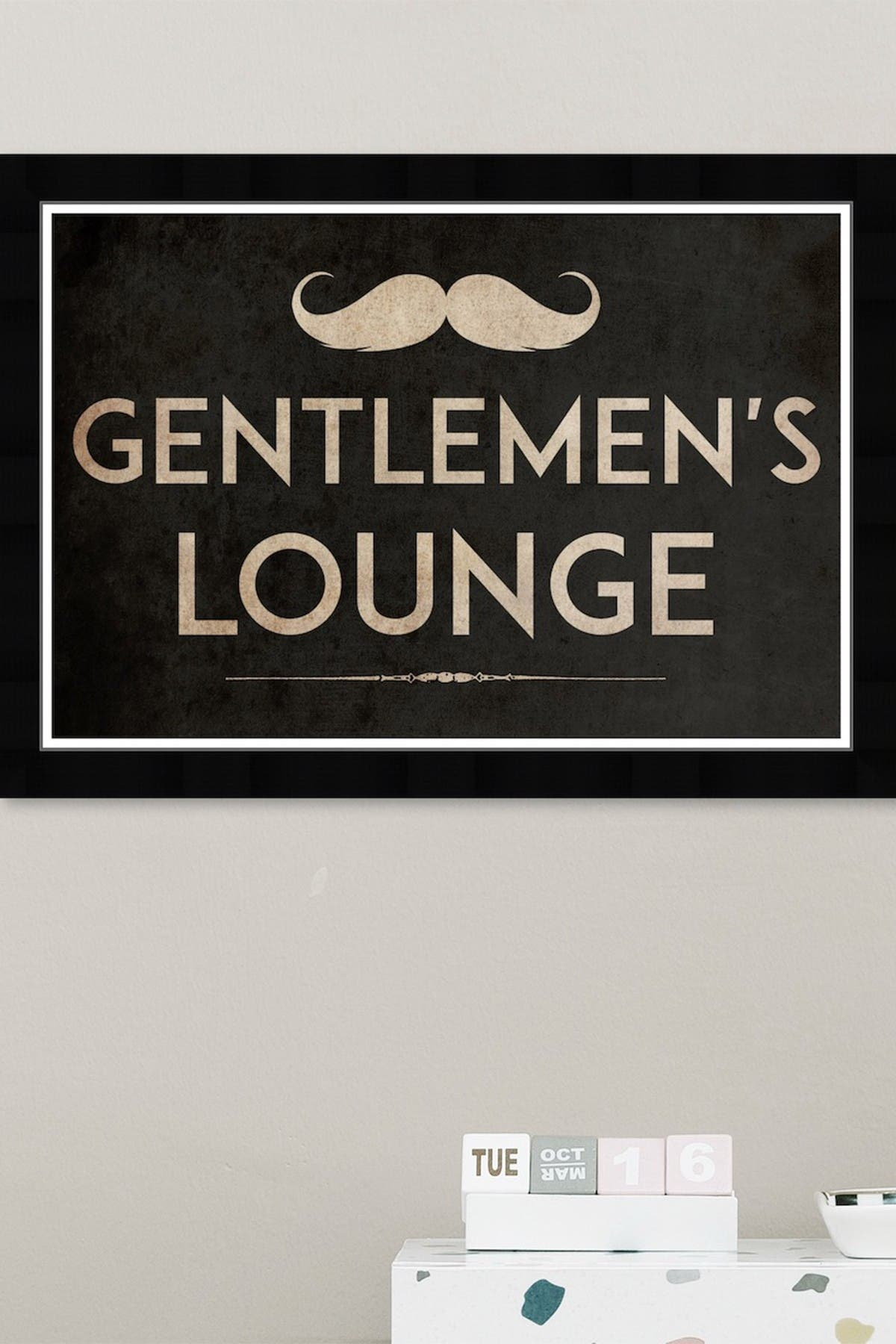 Wynwood Studio Gentlemens Lounge Tjx Gold Bath Laundry Framed Wall Art Nordstrom Rack