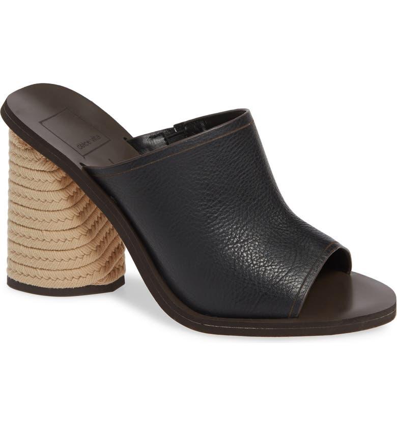 DOLCE VITA Alba Braided Heel Mule Sandal, Main, color, 001