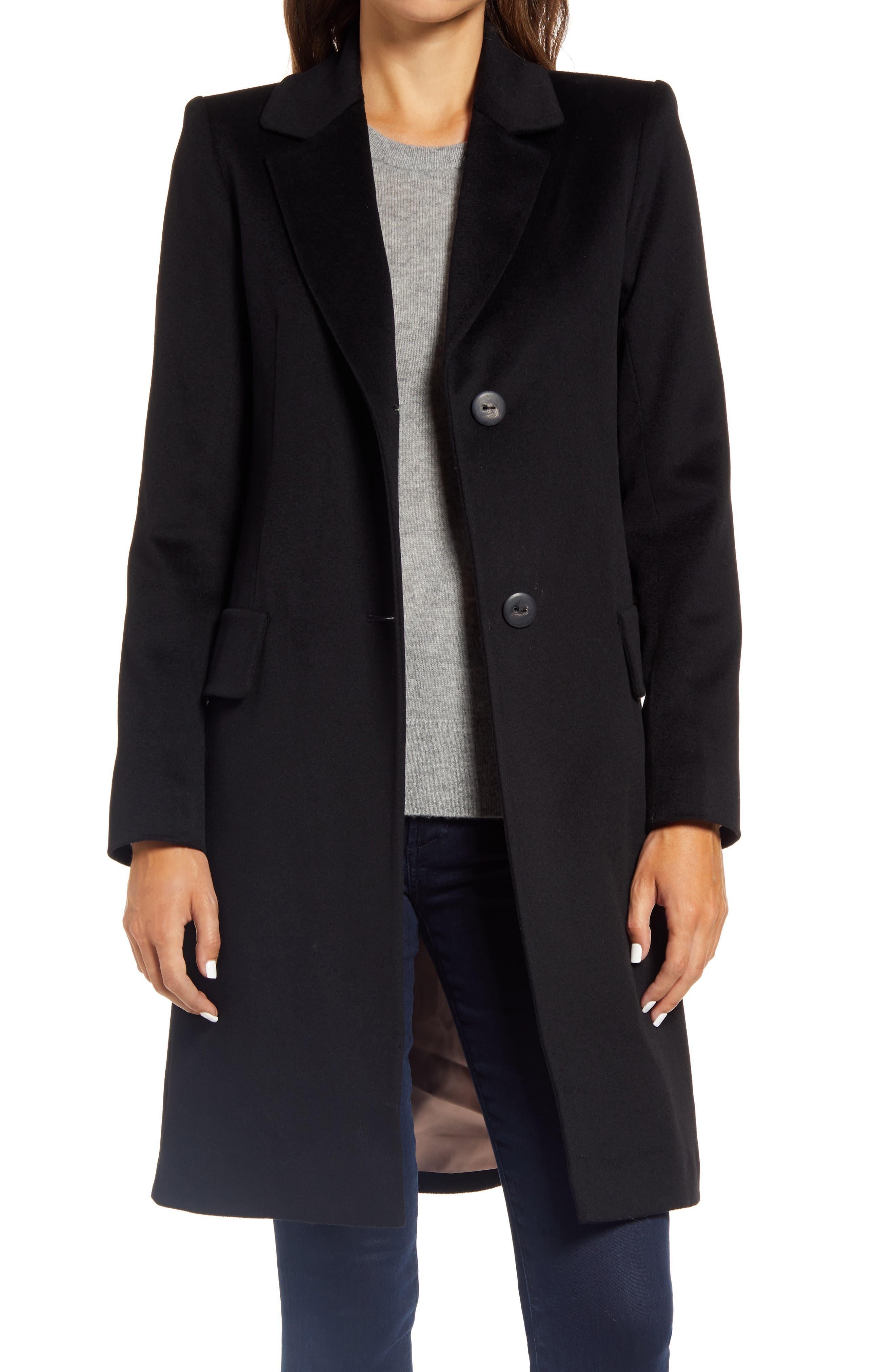 Image of Fleurette Stand Collar Wool Car Coat