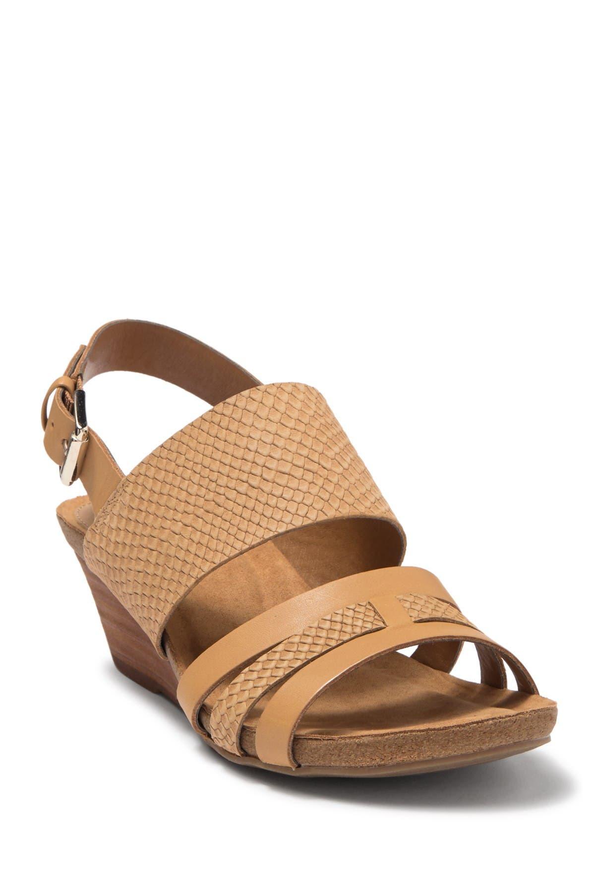 Image of Sofft Velora Snakeskin Embossed Wedge Sandal