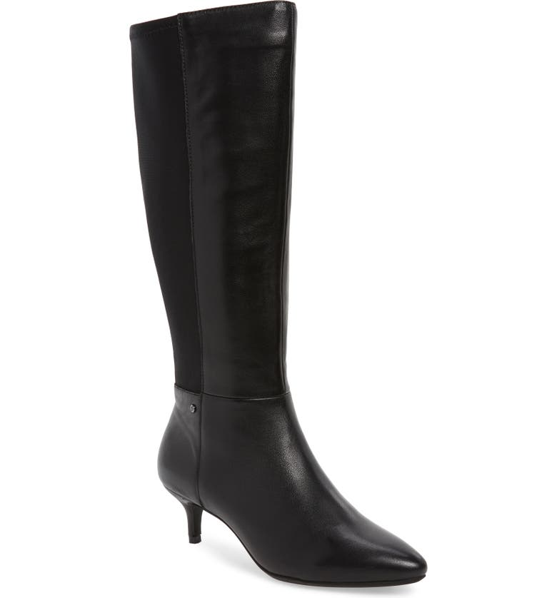 SUDINI Beverly Stretch Back Knee High Boot, Main, color, 001