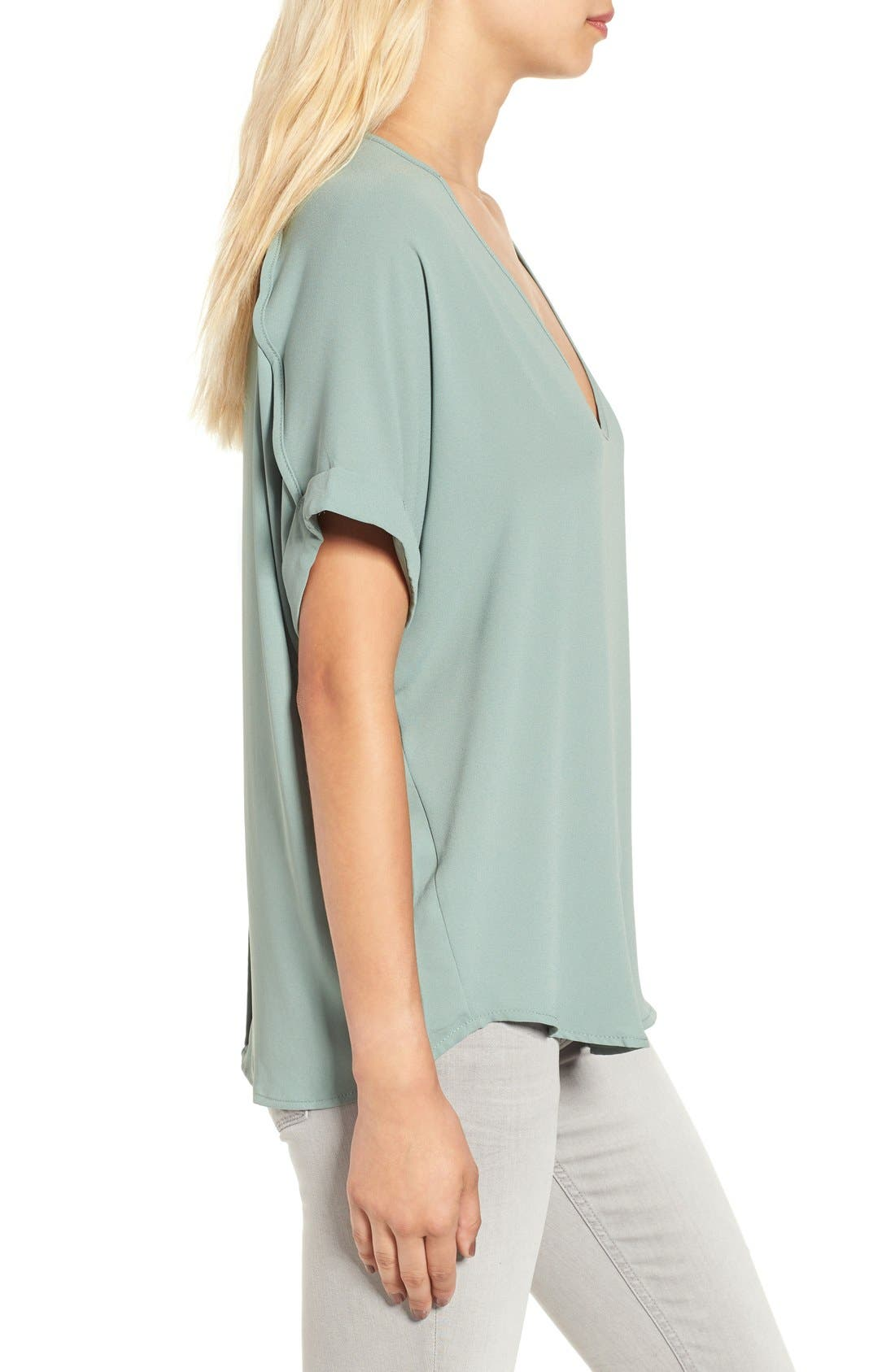 ,                             Lush Cuff Sleeve Woven Tee,                             Alternate thumbnail 60, color,                             306