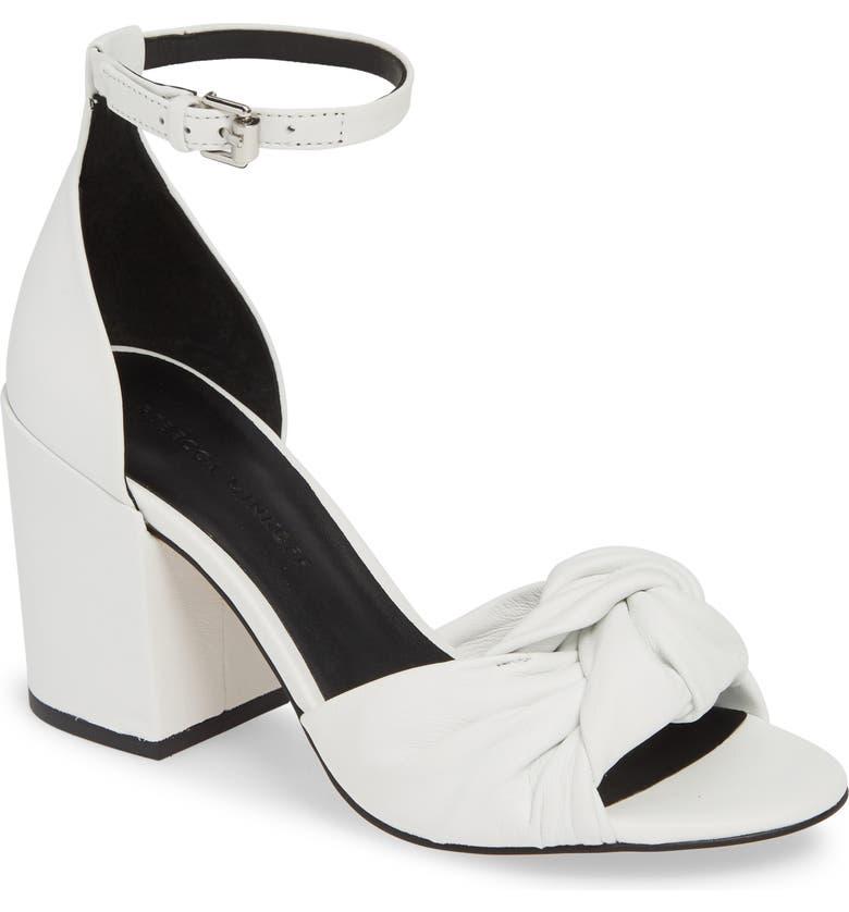 REBECCA MINKOFF Capriana Ankle Strap Sandal, Main, color, OPTIC WHITE LEATHER