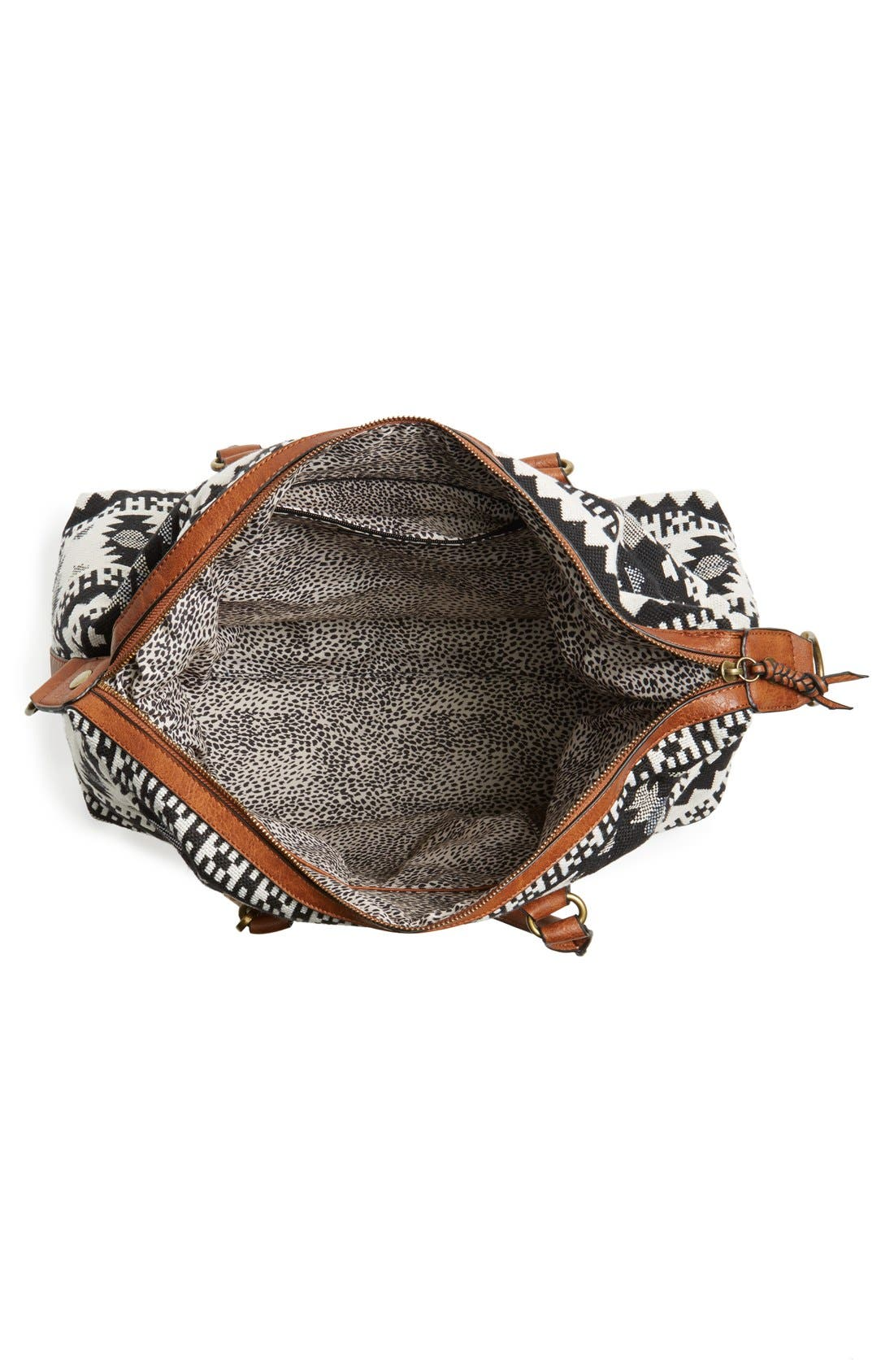 ,                             'Jodi' Tassel Canvas Duffel Bag,                             Alternate thumbnail 5, color,                             001