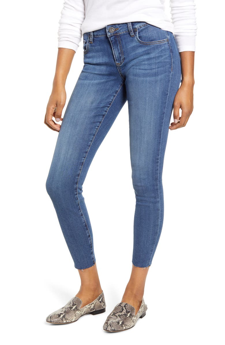 KUT FROM THE KLOTH Donna Ankle Skinny Jeans, Main, color, COLLABERATE