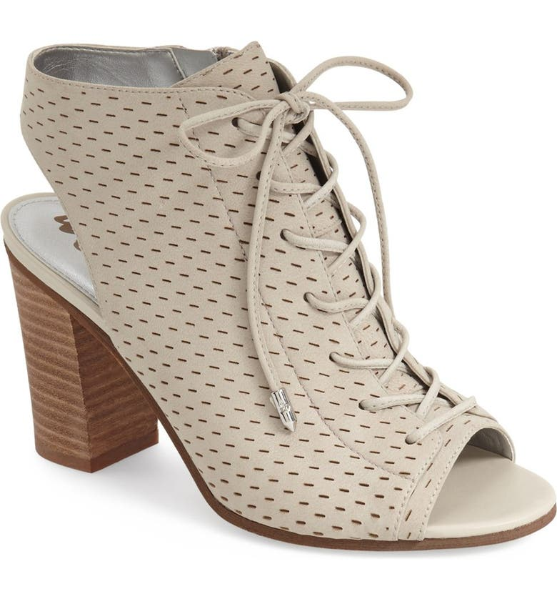 SAM EDELMAN 'Ennette' Perforated Lace Up Bootie, Main, color, 020
