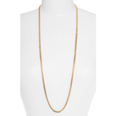 Halogen Long Curb Chain Necklace