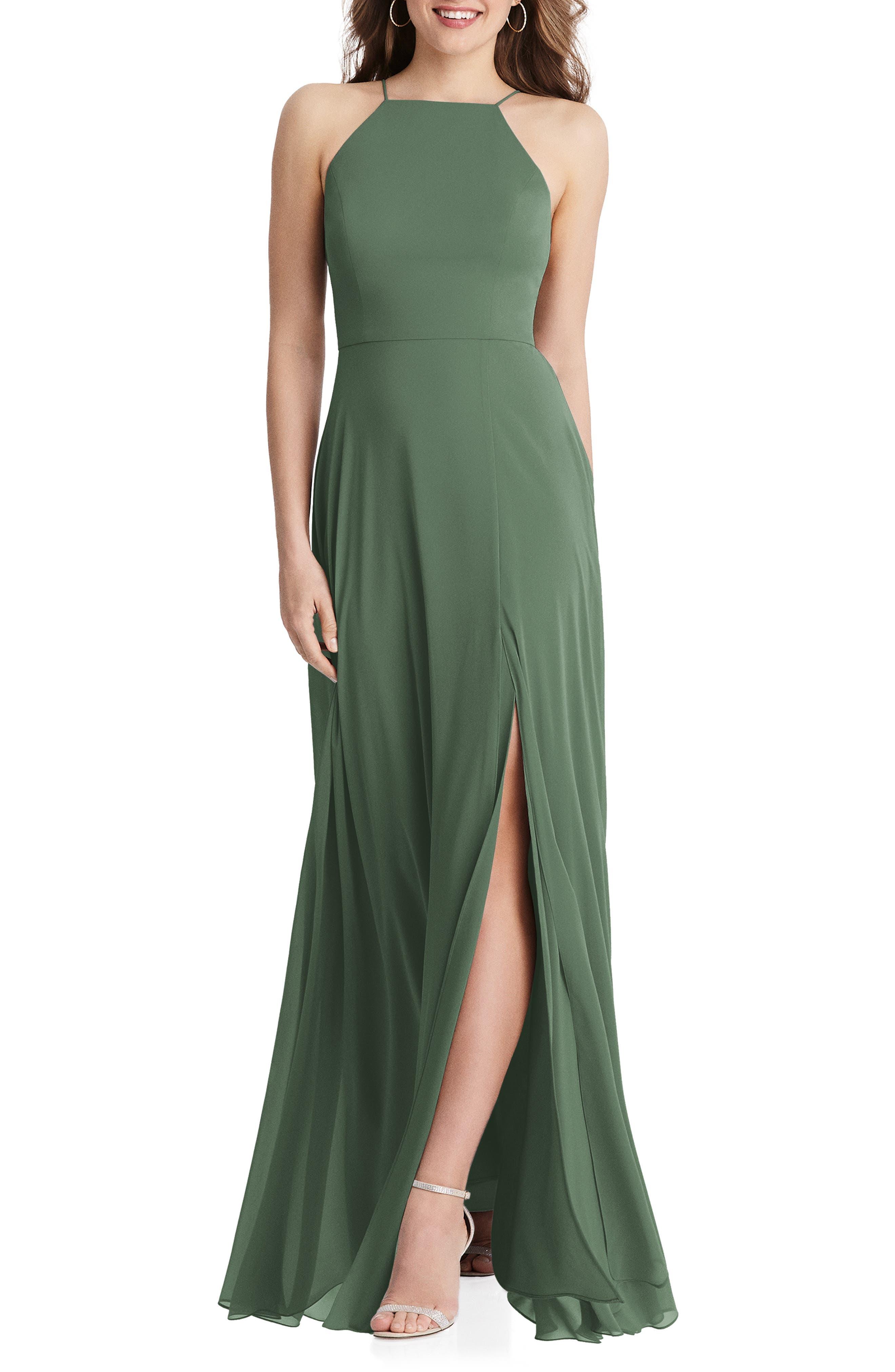 Lela Sleeveless Chiffon Gown