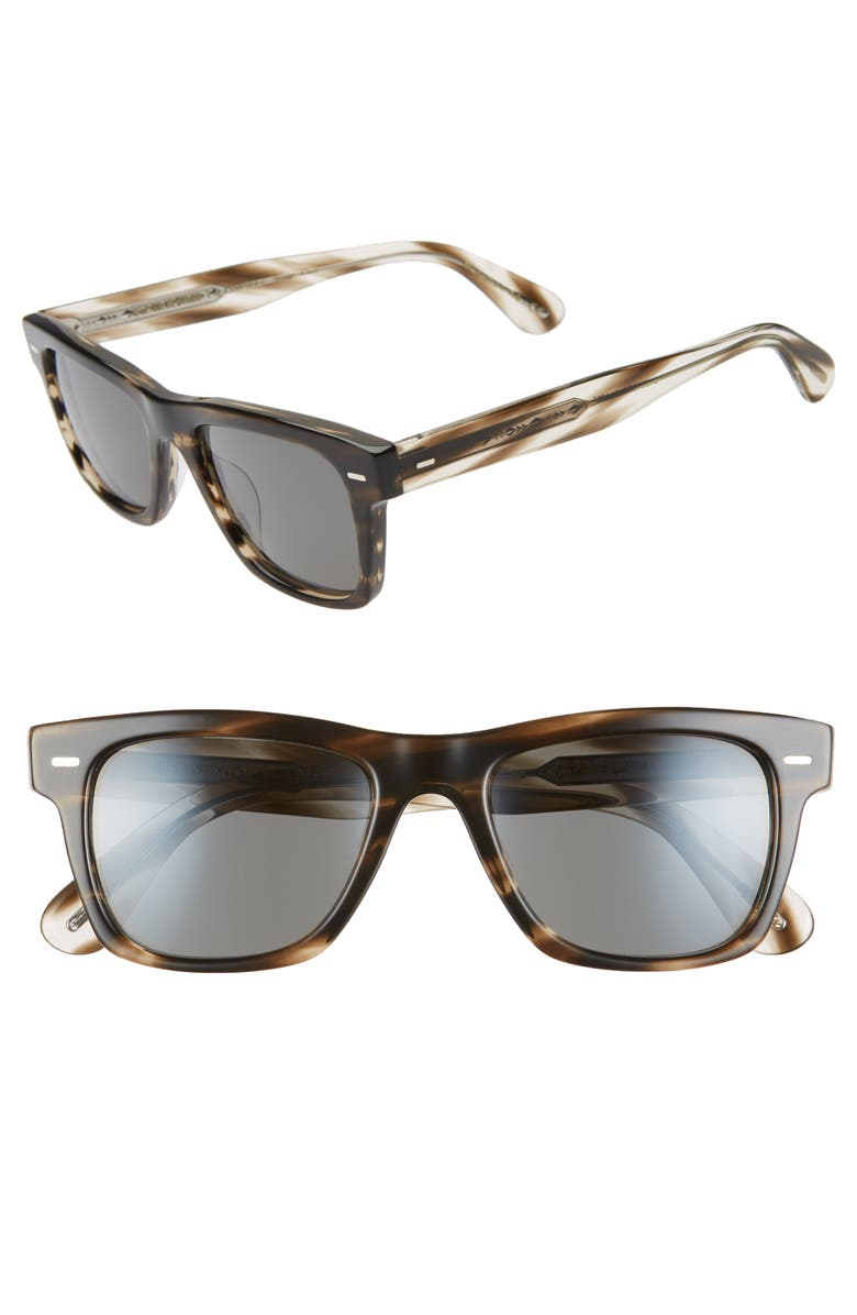 OLIVER PEOPLES Sun 51mm Square Sunglasses, Main, color, CINDER