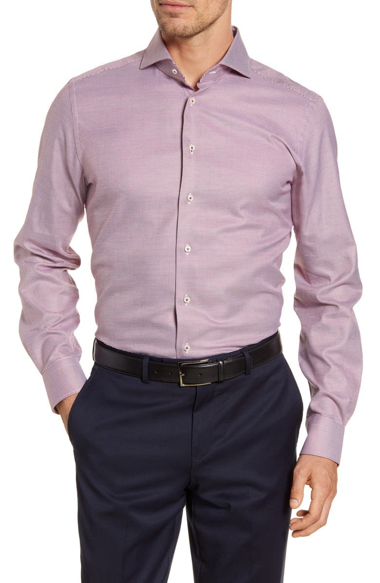 EMANUEL BERG Modern Fit Button-Up Shirt, Main, color, RED