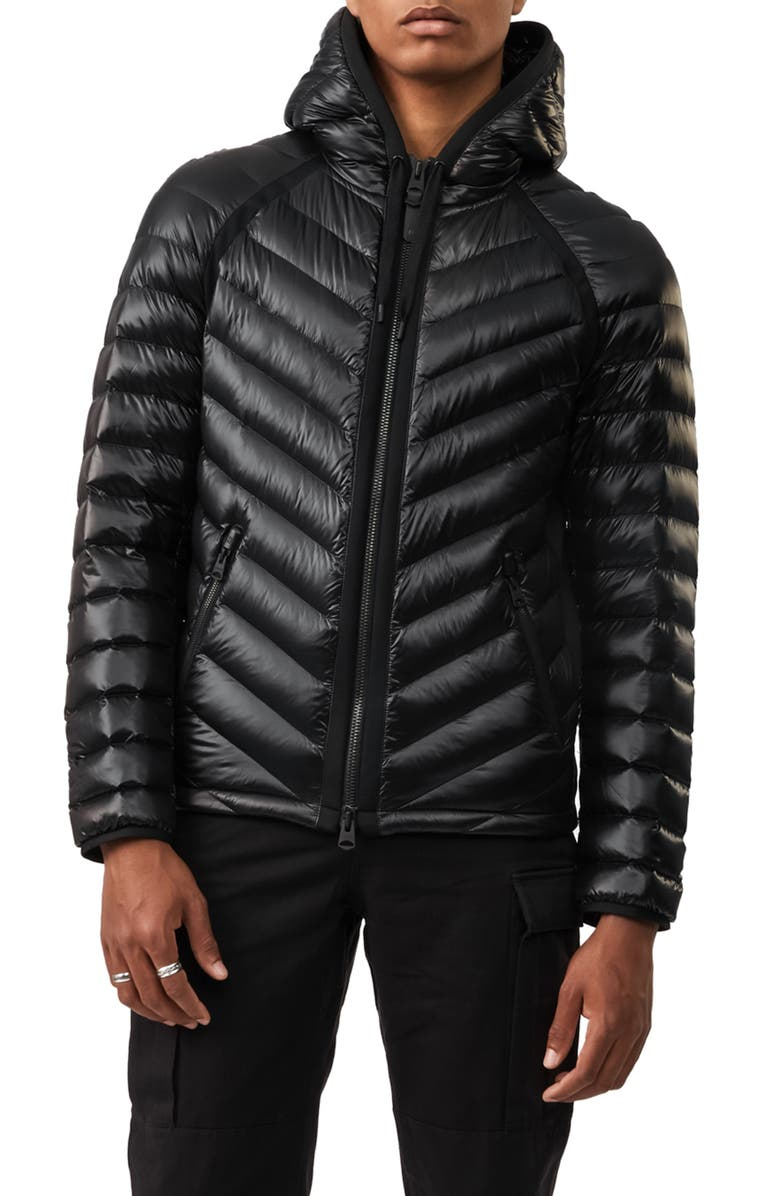 MACKAGE Maxim Down Hooded Jacket, Main, color, 001