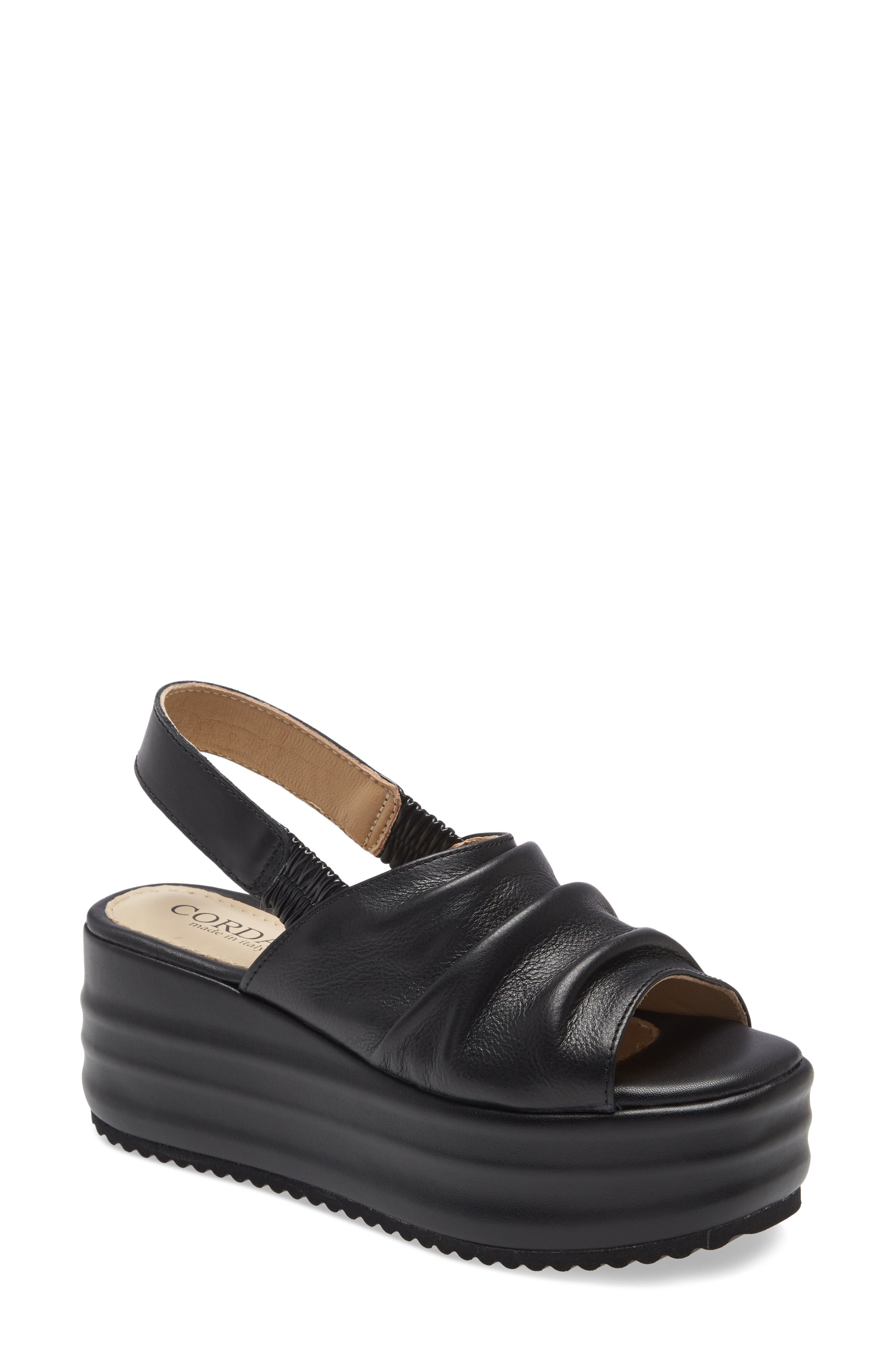 Yorkie Platform Wedge Slingback Sandal