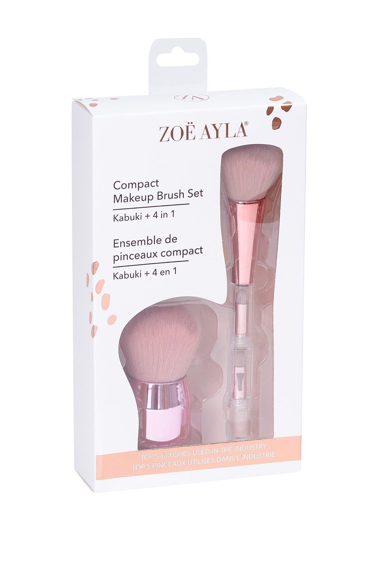 Zoe Ayla 2 Makeup Brushes: 1 Kabuki + 4in1 Brush