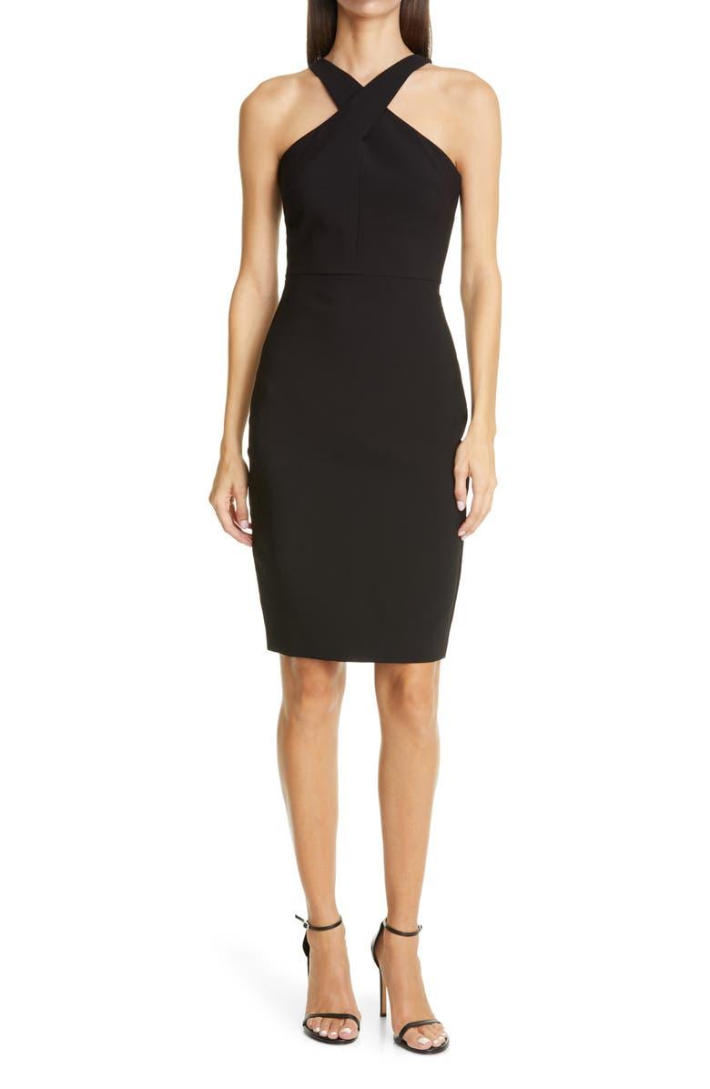 LIKELY Carolyn Halter Sheath Dress, Main, color, BLACK