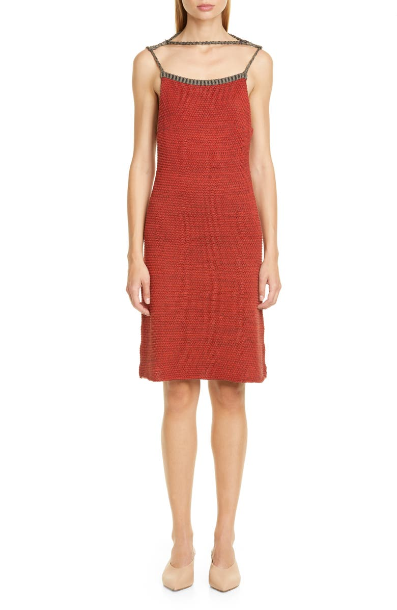 ECKHAUS LATTA Décolleté Sweater Dress, Main, color, RED AND BLACK