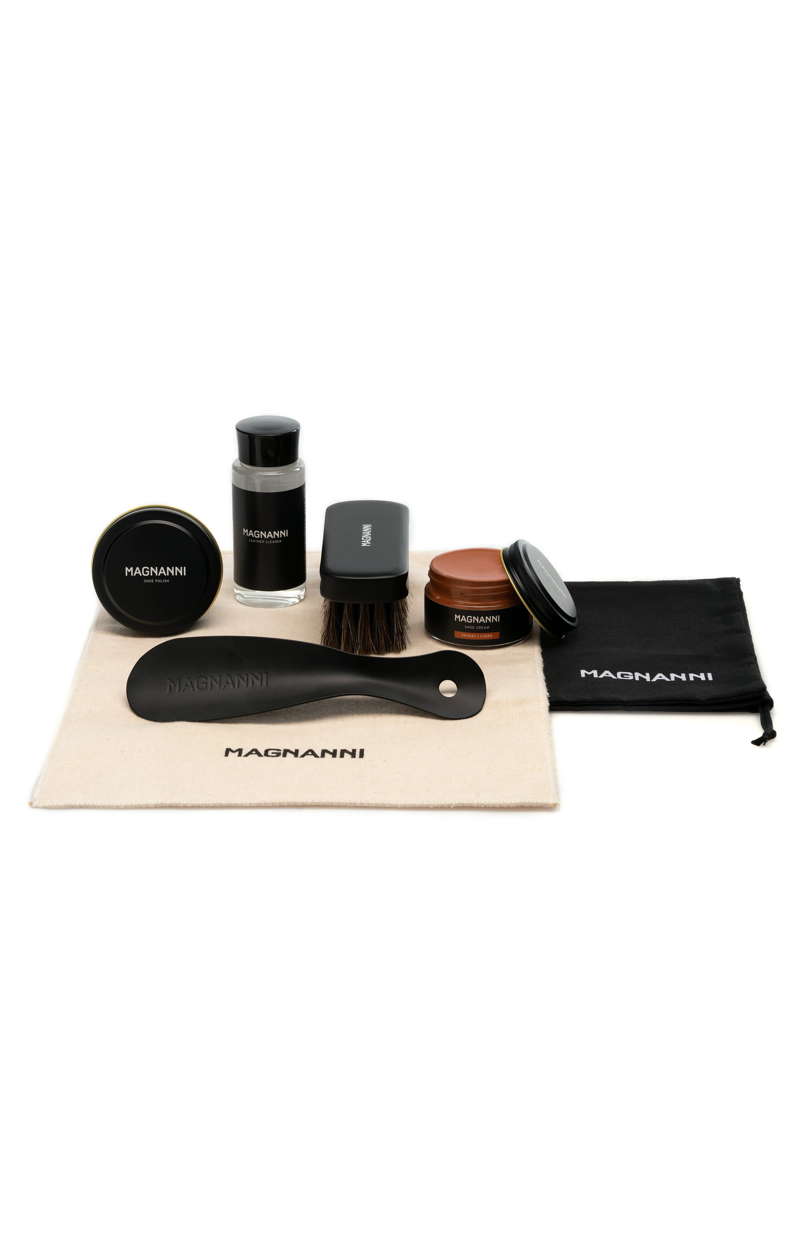 Keep your shoes in excellent condition with this array of care supplies that includes everything you\\\'ll need to extend the life of your favorites. Style Name: Magnanni Essential Shoe Care Kit. Style Number: 5865591. Available in stores.